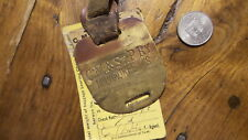 1915 Antique Brass & Paper RAILROAD LUGGAGE BAGGAGE TAG C.M. & ST. PAUL RY