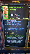 DIABLO 3 RoS XBOX 360 NEW MODDED WITCH DOCTOR JADE HARVESTER SET USE AT LVL 1