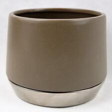céramique, exclusif (Ve) cache-pot,14 cm,Caches-pots Maison de campagne taupe,