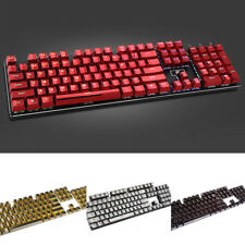 104 Keycaps PBT Electroplating Metal Backlit Replacement for Mechanical Keyboard