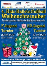 HT 9./10.12.2017 HFC FCM Lok RBL BVB FCB SVW SVB Plakat DIN A1 Sammler Halle/S.