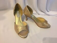 b69935490740 New Touch Ups Women s Stylish Open Toe Heels Gold Sparkle Shoes