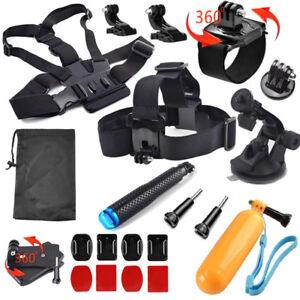 Head Wrist Strap Suction Cup Mount Camera Kits for SJCAM Xiaomi Yi Eken Gopro 8