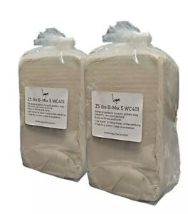 50 Lbs B-Mix 5 WC401 - Best Mix BMIX Mid Fire Pottery Clay Bmix Cream Color