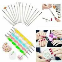 20PCS UV Gel Nail Art Design Dotting Painting Drawing Polish Brush Pen Tools Set