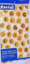 """Emoji 54x108"""" Table Cloth Plastic Vinyl Smiles Party Smiling Cover Tablecloth"""