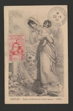 France 1943 semipostal maximum card -  mother and child