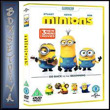 MINIONS - INCLUDES 3 NEW MINI MOVIES *BRAND NEW DVD***