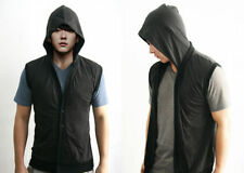 Cotton Sleeveless Basic T-Shirts Hooded for Men
