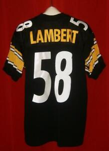 Authentic #58 Jack Lambert Nike Pittsburgh Steelers Black Home Jersey Size 48