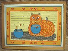 Rare 1992 Kitty Katfish Framed Tile by Taylor & Ng San Francisco