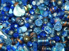 NEW 6/oz Cobalt Blue MIXTURE Assorted Pick LOT LOOSE BEADS 6-15mm