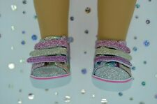 """Dolls Shoes For 17""""Baby Born~18""""American Girl MULTI-COLOUR SPARKLY RUNNERS"""