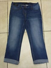 NEXT Womens Mid Rise Cropped Flare Stretch Jeans Size 8 BNWT Blue Uk Freepost