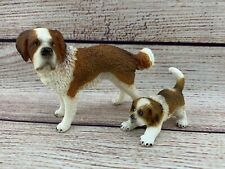Schleich St. Bernard Dog Female Adult Puppy Lot Farm Animal Figure Realistic