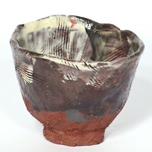 "Art sculpture Tea bowl ""Gansu""  10cm unique piece Andreas Loeschner-Gornau"