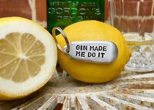 G &T, Gin and Tonic, Gin Lover Vintage Cutlery Handle Amusing Keyring Gift