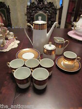 Walbrzych  fine china from Poland, coffee set cobalt and gold, 15 pcs [1stfl]
