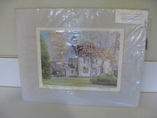 """COLONIAL HOME IN """"ORANGE, CONNECTICUT"""" SIGNED ROBERT E. KENNEDY, BEAUTIFUL PRINT"""