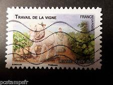 FRANCE 2013, timbre AUTOADHESIF 822 CHEVAL TRAVAIL VIGNE oblitéré STAMP HORSE
