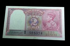 1943 India 2 Rupees Banknote