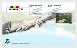 andorra SPAIN 2020 Land Art ANDART SAYPE art landscapes nuture mountain 1v FDC