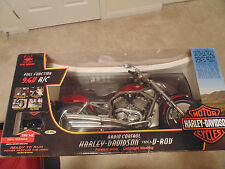 Harley Davidson Fat Boy Vrsca V-Rod- Radio Control Motorcycle Red - 9.6V - R/C