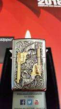 Zippo® GOLDEN REVOLVER GUN PISTOLE limited Edition LUXURY fein gold Neu/New OVP