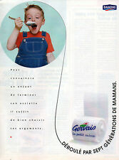 Publicité 1996  DANONE le petit suisse GERVAIS  dessert yaourt