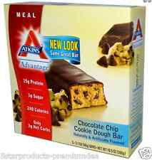 NEW ATKINS ADVANTAGE CHOCOLATE CHIP COOKIE DOUGH BAR HEALTHY SNACK GROCERIE FOOD