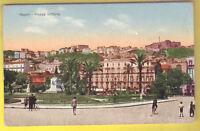Old Postcard 1910 ca NAPOLI Piazza Vittoria ITALY Postal Cartolina ITALIA