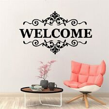 Vinyl Welcome Wall Stickers Adhesive Black Quotes Office House Business Place