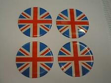 50mm (U8) lega ruota centro centro distintivi Union Jack GB Bandiera UK (RWB)