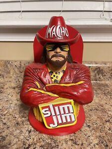 Rare Macho Man Randy Savage Slim Jim Figure Display Counter Holder WWE Wwf