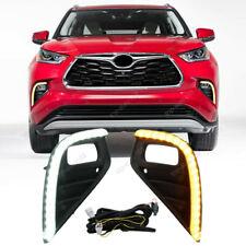 LED DRL Daytime Running Lights & Turn Signal Light For Toyota Highlander 2020-21
