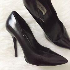 Steve Madden 9.5 Darrt Black Patent Pointed Toe Pumps Heels Shoes $100