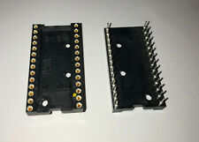 28 Pin Gold DIP IC Sockets - 30 Pcs (2 Tubes)  /  AUGAT 528AG11D  /  Chip Sockel