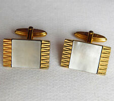 Mother of Pearl cufflinks for men or ladies vintage 1970s 1980s Shell MoP