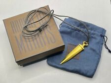 ROBERT LEE MORRIS RLM DAGGER GOLD PLATED SIGNED w/pouch & box