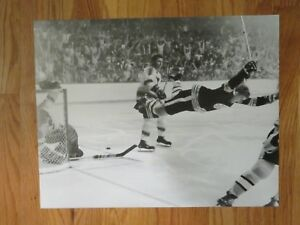 BOBBY ORR Flying through the Air BOSTON BRUINS vs BLUES May 10 1970 Poster