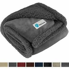 Premium Puppy Blanket Pet Small Dog Cats, Kitten Soft, Warm, Plush, Reversible -