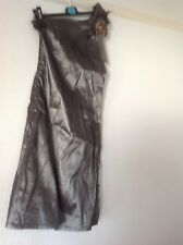 BNWT Grey Dress from PUSSYCAT LONDON Size Large with feather patterned badge