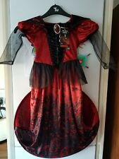 Girls Halloween Costume~ Hooped Vampire Dress~ Outfit~ With Sound Chip~ 9-10 Yrs