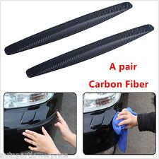2×Carbon Fiber Car Bumper Exterior Protector Corner Guard Strip Spoiler Anti-Rub