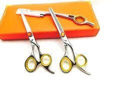 "5.5""Professional Hair Cutting Scissors Barber Shears Hairdressing Razor Kit New"