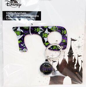 Disney Parks Villians Ulility Keychain No Touch Phone Door Opener Purple Key