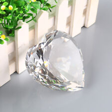 Big 90mm Clear Crystal Paperweight Cut Glass Large Giant Diamond Jewel Gift