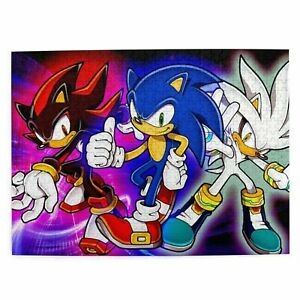 Sonic the Hedgehog 300/500/1000 Pcs Wooden Jigsaw Puzzle Education Game DIY Toys