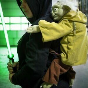 """Star Wars Yoda Backpack Plush Backpack 24"""" Adjustable Lucasfilm Disney Parks"""