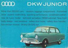 DKW Junior 750 & 800 De Luxe 1962-63 UK Market Foldout Sales Brochure